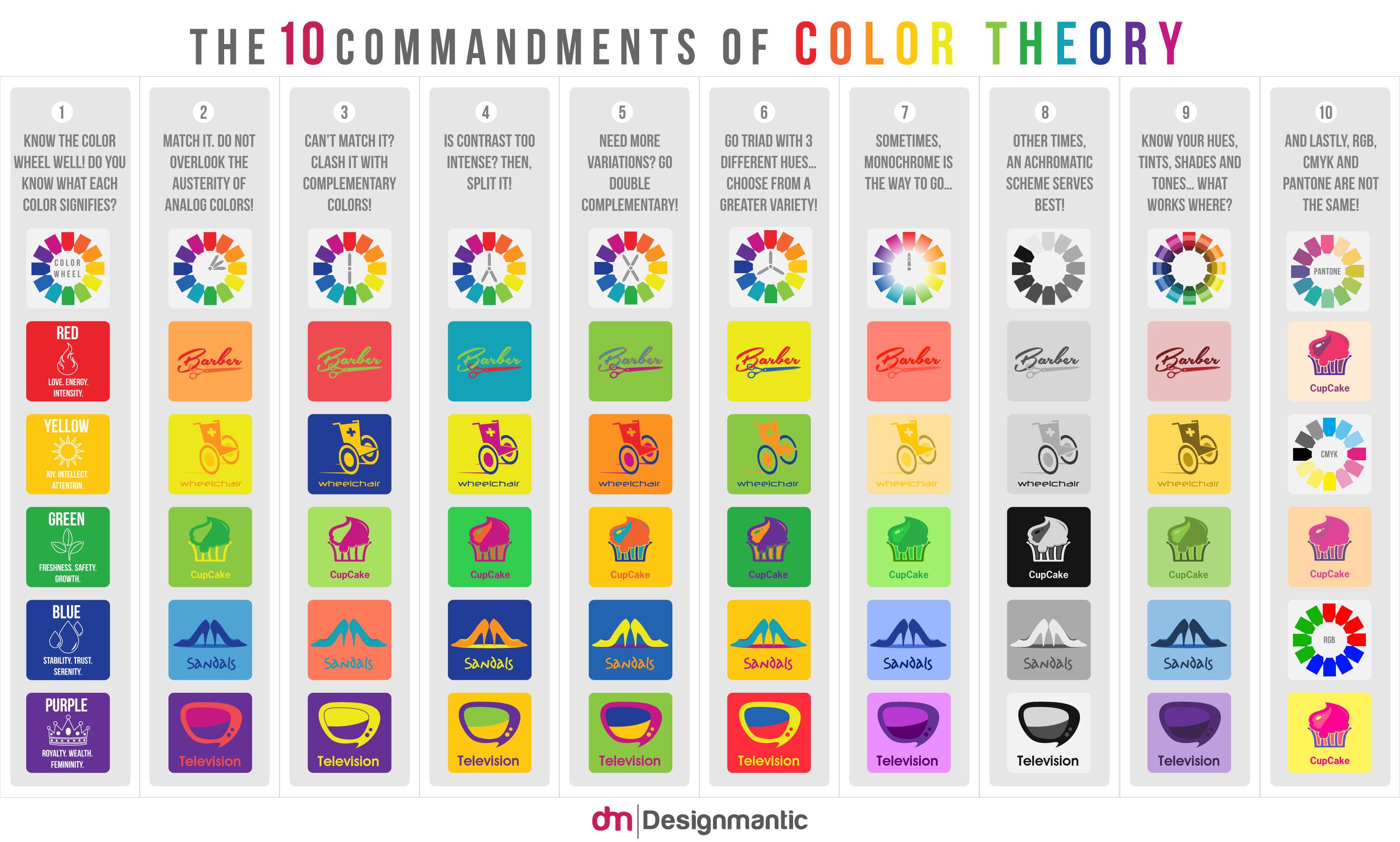 Los 10 mandamientos de la teoría del color | Waarket