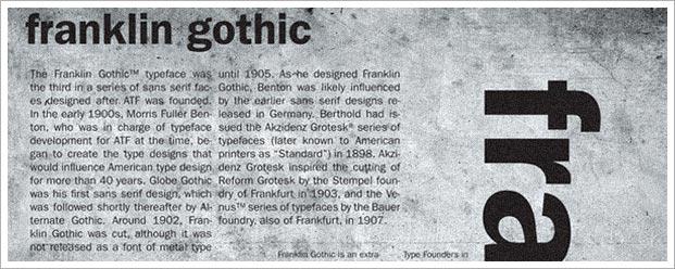franklin-gothic